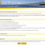Online motor vehicle registration system for the County of Hawaii.