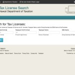 Search for tax license information and taxpayer ID numbers.