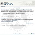 Submit an online application to volunteer with the Judiciary