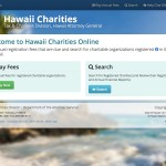 This application enables the public to search and view information on charities that are registered in the State of Hawaii.