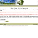 Pay your bi-monthly Kauai sewer service bill instantly online.
