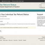 View the status of your individual tax refund from the Department of Taxation.