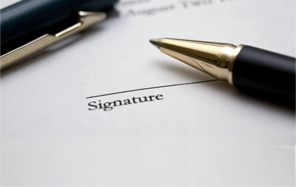Signature of a Service Level Agreement